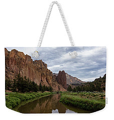 Smith Rock Reflections Weekender Tote Bag