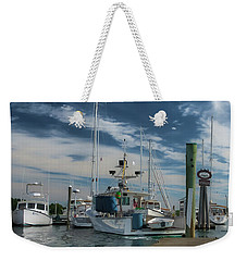 Weekender Tote Bag featuring the photograph South Freeport Pier  by Guy Whiteley