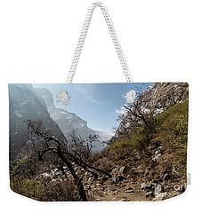 Sunrise Over Valley Leading To The Annapurna Base Camp Trek In N Weekender Tote Bag