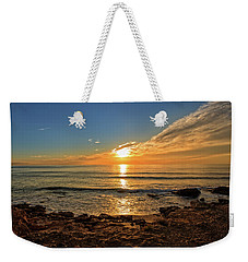 The Calm Sea In A Very Cloudy Sunset Weekender Tote Bag