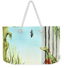 Weekender Tote Bag featuring the painting The Origin Of Species -a Recurring Pattern- by Ryan Demaree