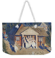 Weekender Tote Bag featuring the drawing The Story Of The Six Princesses by Ivar Arosenius