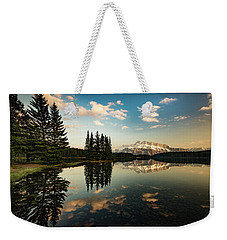 Two Jack Lake And Mount Rundle Weekender Tote Bag