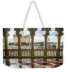 Weekender Tote Bag featuring the photograph Views Of Las Vegas Nevada Strip In November by Alex Grichenko