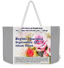Watercolor Weekly Weekender Tote Bag