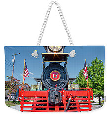 Weekender Tote Bag featuring the photograph York 17 Steam Engine by Mark Dodd