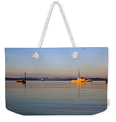 10/11/13 Morecambe. Fishing Boats Moored In The Bay. Weekender Tote Bag