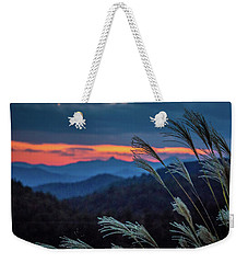Weekender Tote Bag featuring the photograph Sunset Over Peaks On Blue Ridge Mountains Layers Range by Alex Grichenko