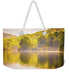 Weekender Tote Bag featuring the photograph Julian Price Lake, Along The Blue Ridge Parkway In North Carolin by Alex Grichenko