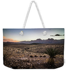 Weekender Tote Bag featuring the photograph Red Rock Canyon Las Vegas Nevada At Sunset by Alex Grichenko