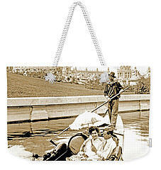 1904 Worlds Fair, Sighteeing Boat, Oarsman And Couple Weekender Tote Bag