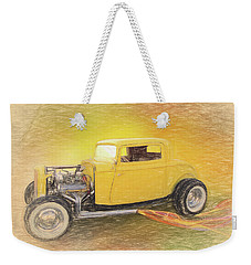 1932 Ford Coupe Yellow Weekender Tote Bag