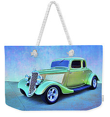 1934 Green Ford Weekender Tote Bag