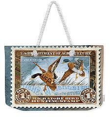 1934 Hunting Stamp Collage Weekender Tote Bag