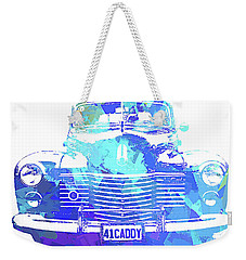 1941 Cadillac Front Abs Blue Weekender Tote Bag