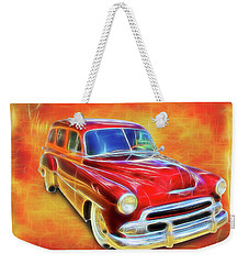 1951 Chevy Woody Weekender Tote Bag