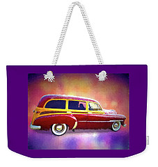 1951 Chevy Woody Sideview Weekender Tote Bag