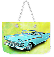 1957 Ford Fairlane Convertable Weekender Tote Bag