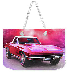 1965 Red Vette Weekender Tote Bag