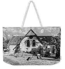 19th Century Sandstone Church In Black And White Weekender Tote Bag