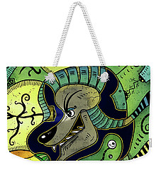 Weekender Tote Bag featuring the digital art Anubis by Sotuland Art