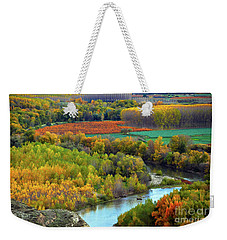Autumn Colors On The Ebro River Weekender Tote Bag
