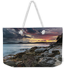 Colours Of A Stormy Sunrise Seascape Weekender Tote Bag