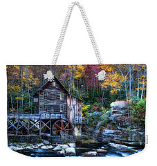 Weekender Tote Bag featuring the photograph Glade Creek Grist Mill  by Pete Federico