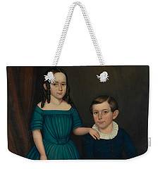Weekender Tote Bag featuring the painting John And Louisa Stock by Joseph Whiting Stock