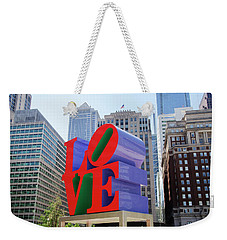 Weekender Tote Bag featuring the photograph Love In The City - Philadelphia by Bill Cannon