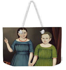 Weekender Tote Bag featuring the painting Mary And Francis Wilcox by Joseph Whiting Stock
