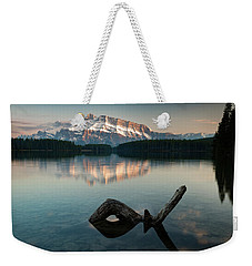 Mount Rundle And Two Jack Lake Weekender Tote Bag