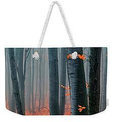 Orange Wood Weekender Tote Bag