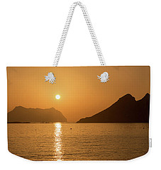 Sunrise On A Beach In Aguilas, Murcia Weekender Tote Bag