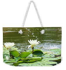 2 White Water Lilies Weekender Tote Bag