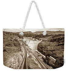 Weekender Tote Bag featuring the photograph Wandering Around Hoover Dam On Lake Mead In Nevada And Arizona by Alex Grichenko