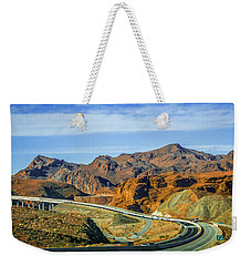 Weekender Tote Bag featuring the photograph Red Rock Canyon Landscape Near Las Vegas Nevada by Alex Grichenko