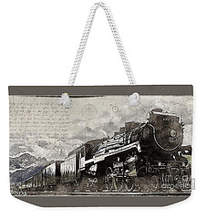 Weekender Tote Bag featuring the photograph 2816 At Banff Siding by Brad Allen Fine Art