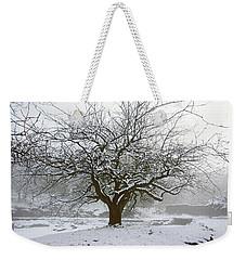 30/01/19  Rivington.  Japanese Pool. Snow Clad Tree. Weekender Tote Bag