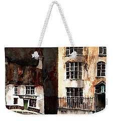 Weekender Tote Bag featuring the painting 305 Frys Chochies In Killarney, Co. Kerry by Val Byrne