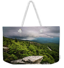 Weekender Tote Bag featuring the photograph Rough Ridge Overlook Viewing Area Off Blue Ridge Parkway Scenery by Alex Grichenko