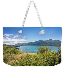 Weekender Tote Bag featuring the photograph Nature Scenics Around Spokane River Washington by Alex Grichenko