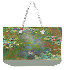 Weekender Tote Bag featuring the digital art Water Lily Pond by Claude Monet