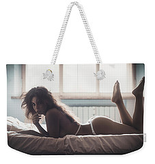 Weekender Tote Bag featuring the photograph 5046 by Traven Milovich