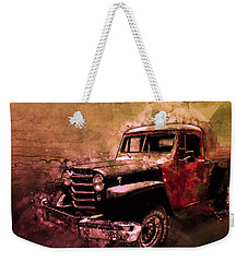 51 Willys Jeep 4x4 Pickup Ridge Running Before Dark Weekender Tote Bag