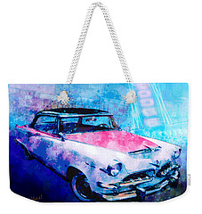 55 Dodge Hemi Hardtop Ahead Of The Pack-mobile Weekender Tote Bag