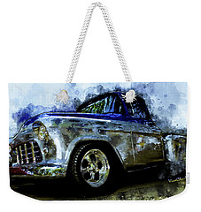56 Chevro Pickup Dreaming Of Chrome Weekender Tote Bag