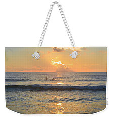 Weekender Tote Bag featuring the photograph 9/3/18 Kitty Hawk Sunrise by Barbara Ann Bell