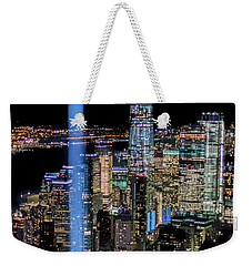 911 Lights Weekender Tote Bag