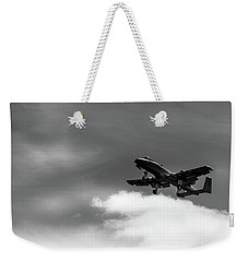 Weekender Tote Bag featuring the photograph A-10 Slow Pass by Doug Camara